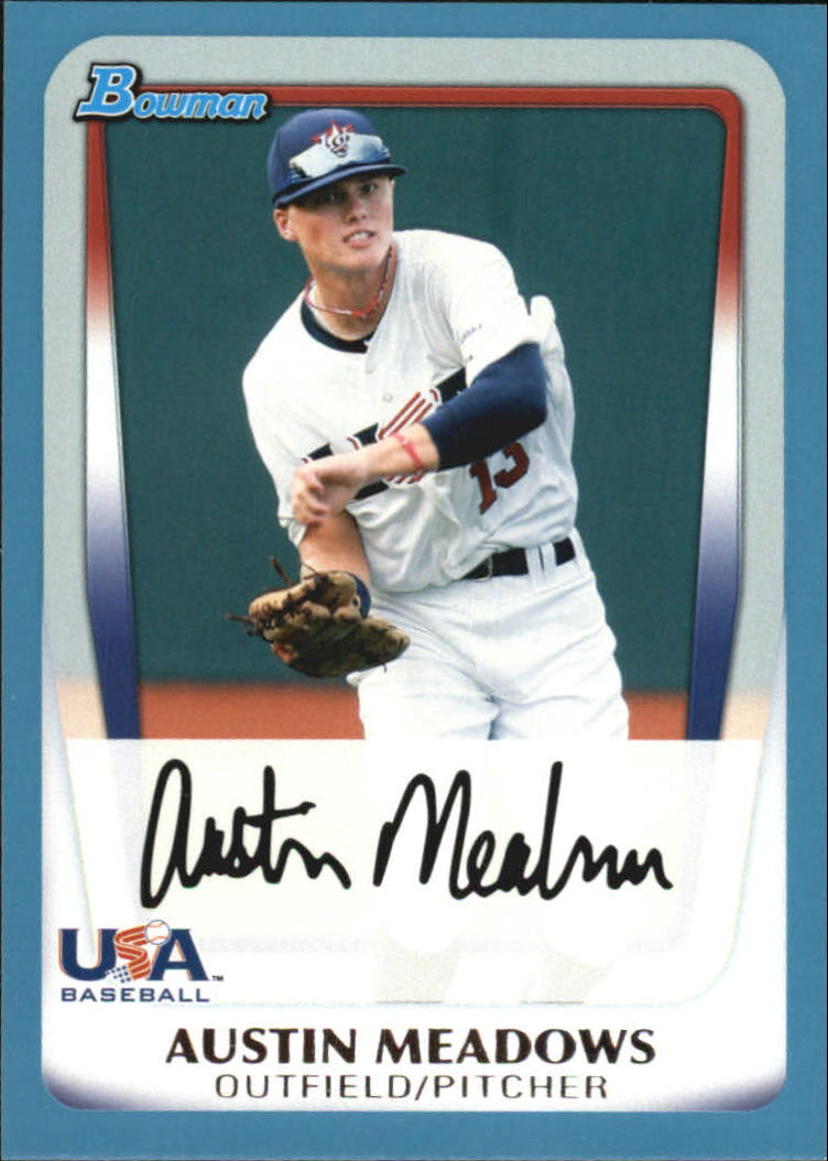 2011 Bowman Draft Prospects Blue #BDPP100 Austin Meadows