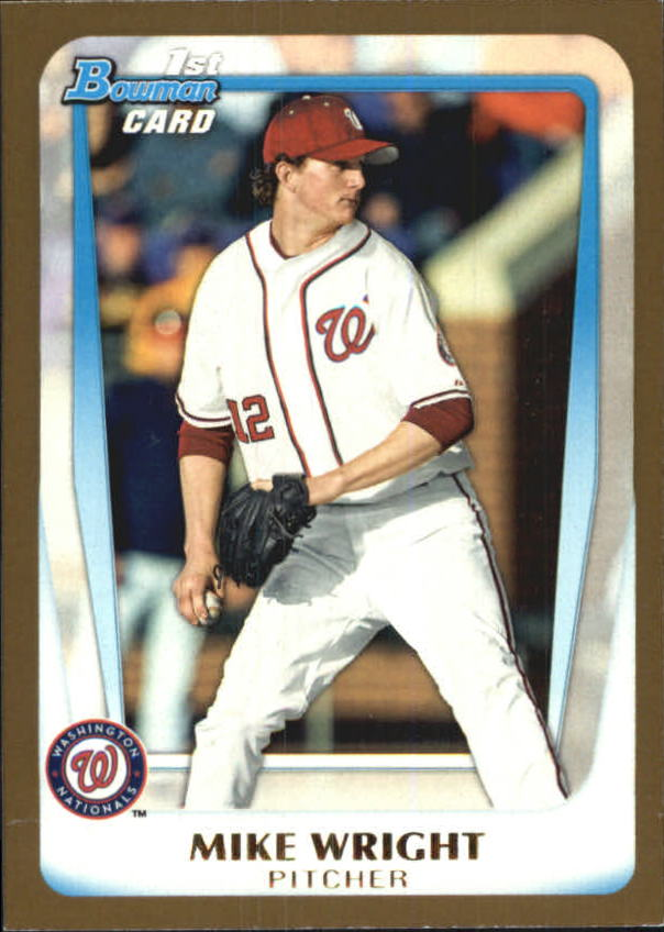 2011 Bowman Draft Prospects Gold #BDPP11 Mike Wright