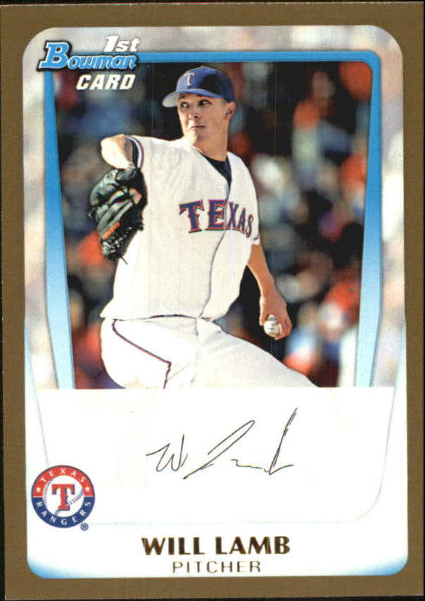 2011 Bowman Draft Prospects Gold #BDPP20 Will Lamb