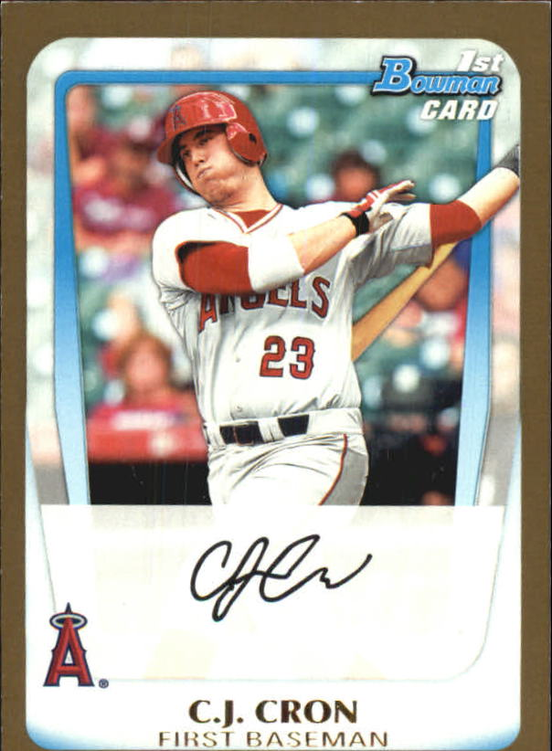 2011 Bowman Draft Prospects Gold #BDPP25 C.J. Cron
