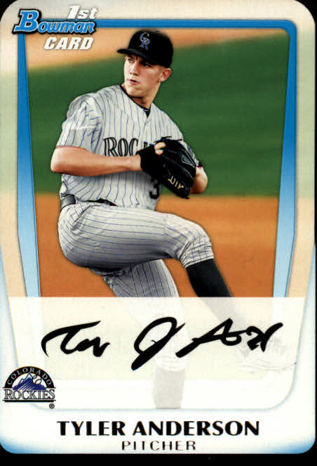 2011 Bowman Chrome Draft Prospects #BDPP3 Tyler Anderson