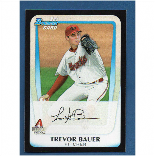2011 Bowman Chrome Draft Prospects #BDPP9 Trevor Bauer
