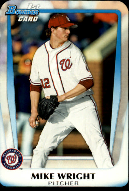 2011 Bowman Chrome Draft Prospects #BDPP11 Mike Wright UER/Drafted by Orioles; pictured as National