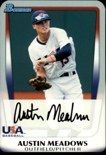 2011 Bowman Chrome Draft Prospects #BDPP100 Austin Meadows
