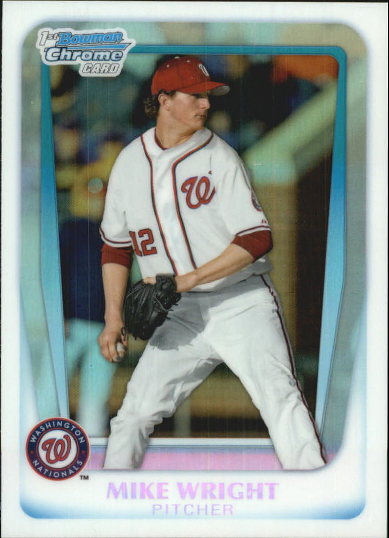 2011 Bowman Chrome Draft Prospects Refractors #BDPP11 Mike Wright