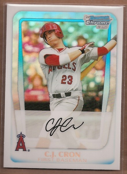 2011 Bowman Chrome Draft Prospects Refractors #BDPP25 C.J. Cron