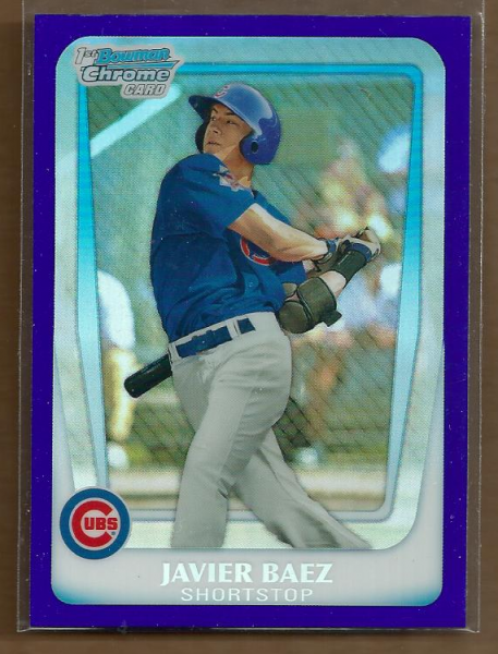 2011 Bowman Chrome Draft Prospects Purple Refractors #BDPP6 Javier Baez