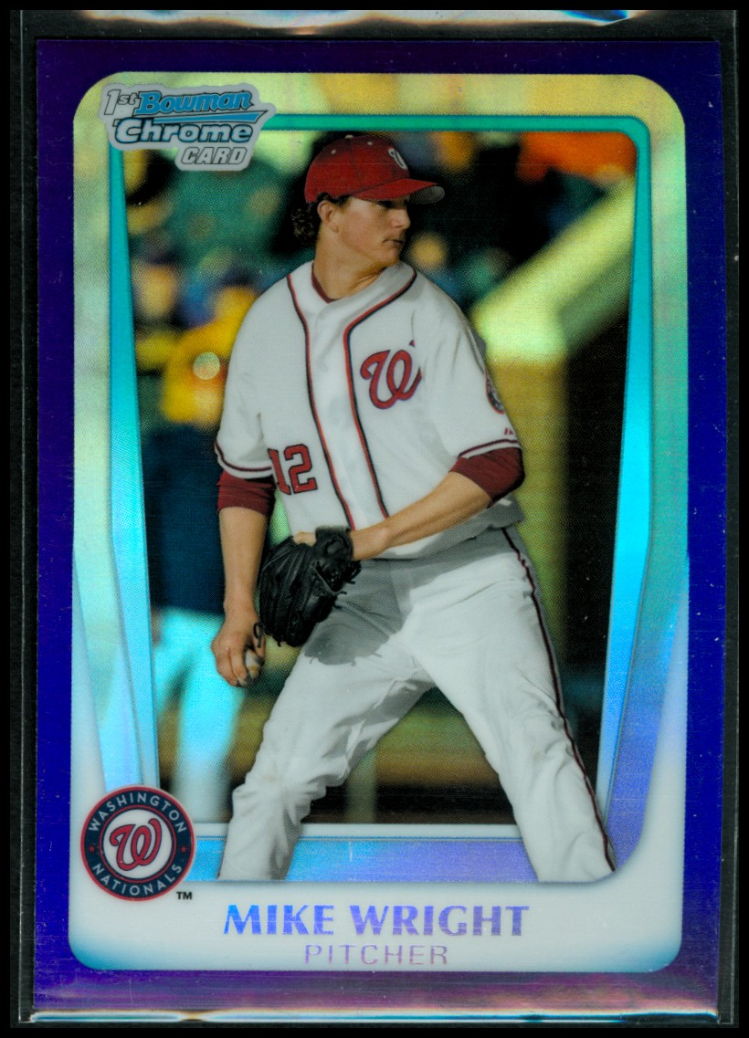 2011 Bowman Chrome Draft Prospects Purple Refractors #BDPP11 Mike Wright