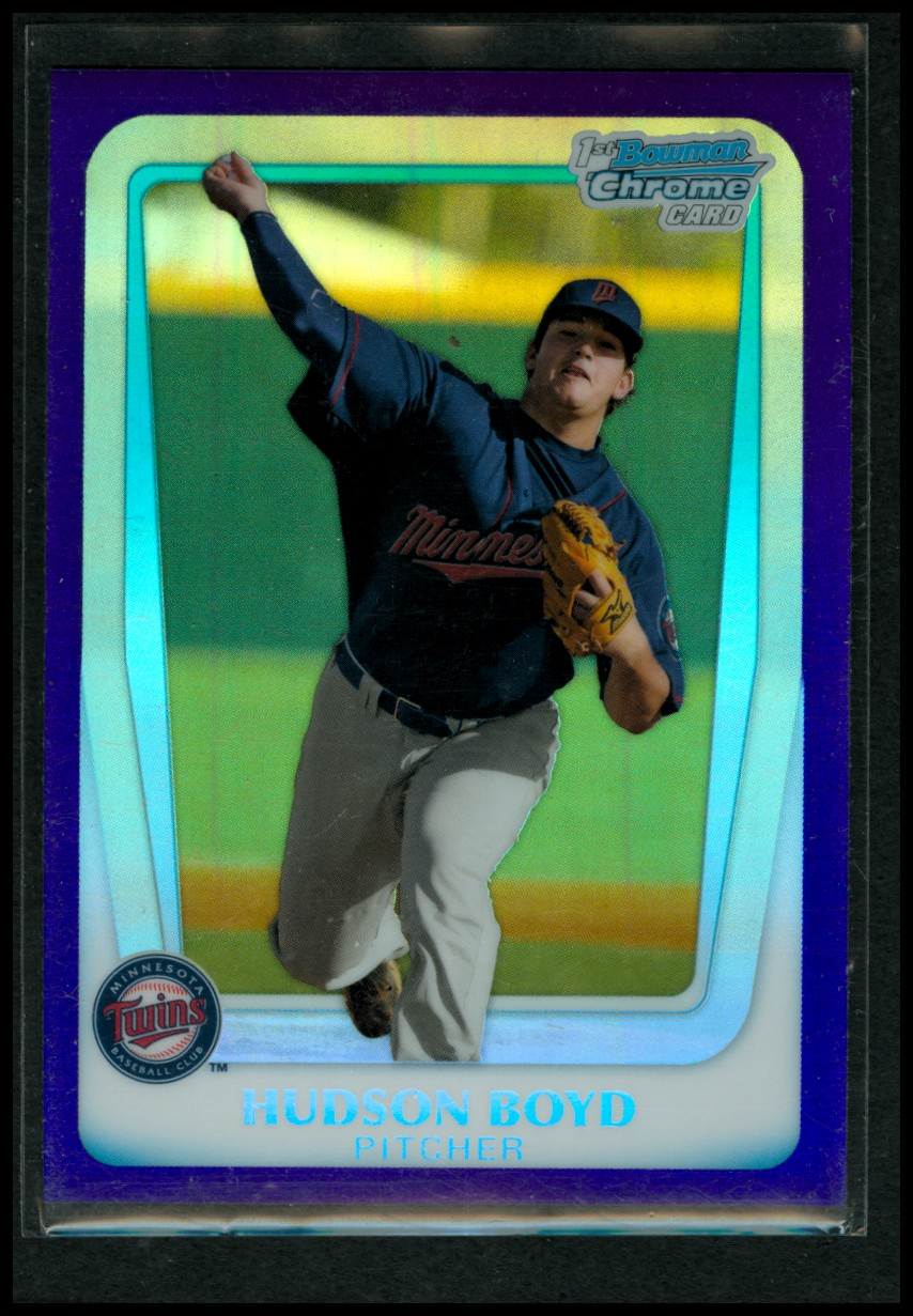 2011 Bowman Chrome Draft Prospects Purple Refractors #BDPP13 Hudson Boyd