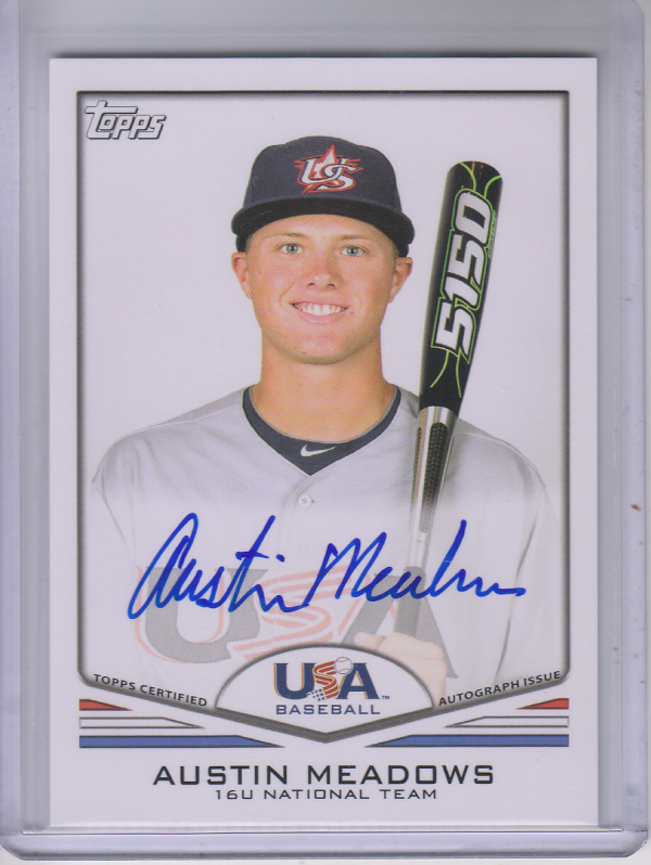 2011 USA Baseball Autographs #A32 Austin Meadows