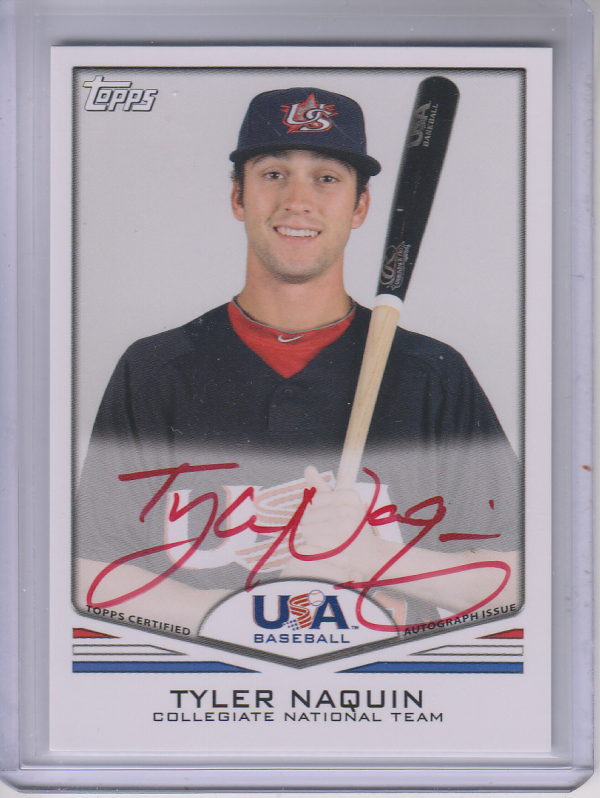 2011 USA Baseball Autographs Red #A17 Tyler Naquin