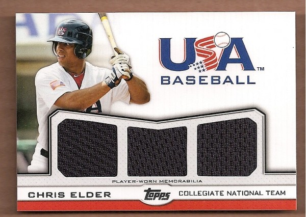 2011 USA Baseball Triple Jerseys #CE Chris Elder