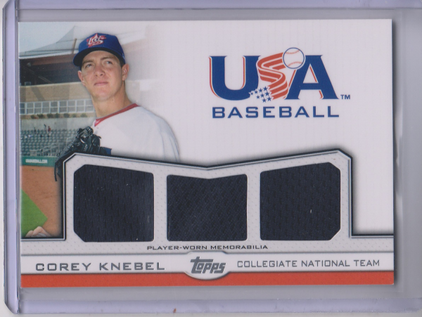 2011 USA Baseball Triple Jerseys #CK Corey Knebel