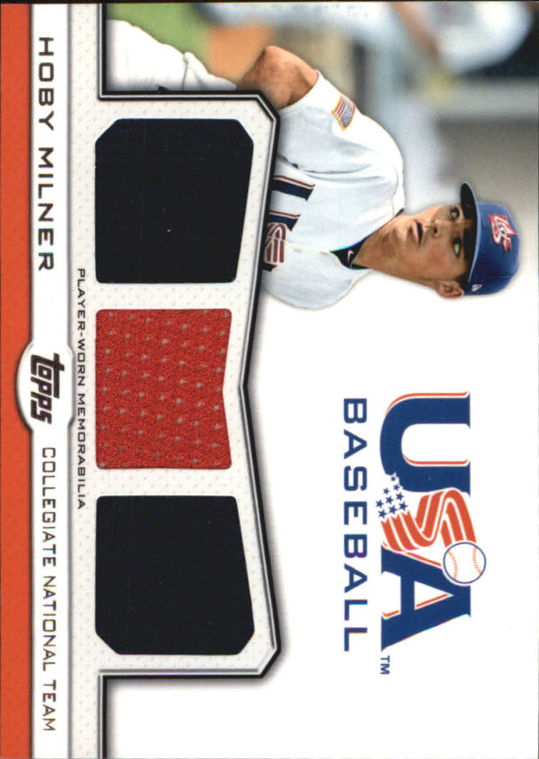 2011 USA Baseball Triple Jerseys #HM Hoby Milner