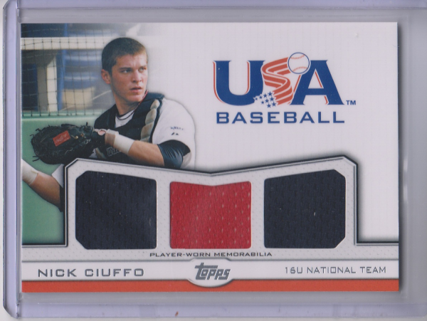 2011 USA Baseball Triple Jerseys #NC Nick Ciuffo