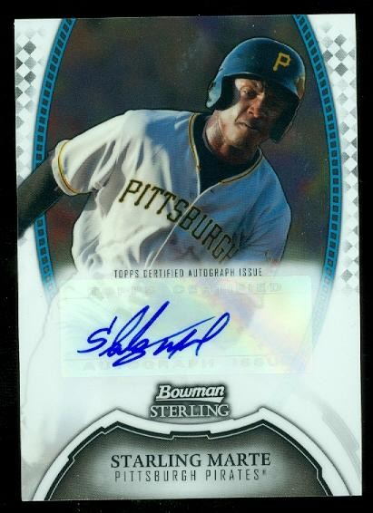 2011 Bowman Sterling Prospect Autographs #SM Starling Marte