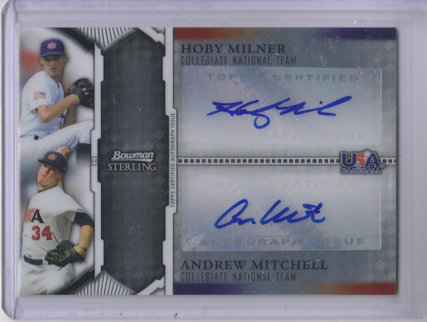 2011 Bowman Sterling Dual Autographs #MM Hoby Milner/Andrew Mitchell