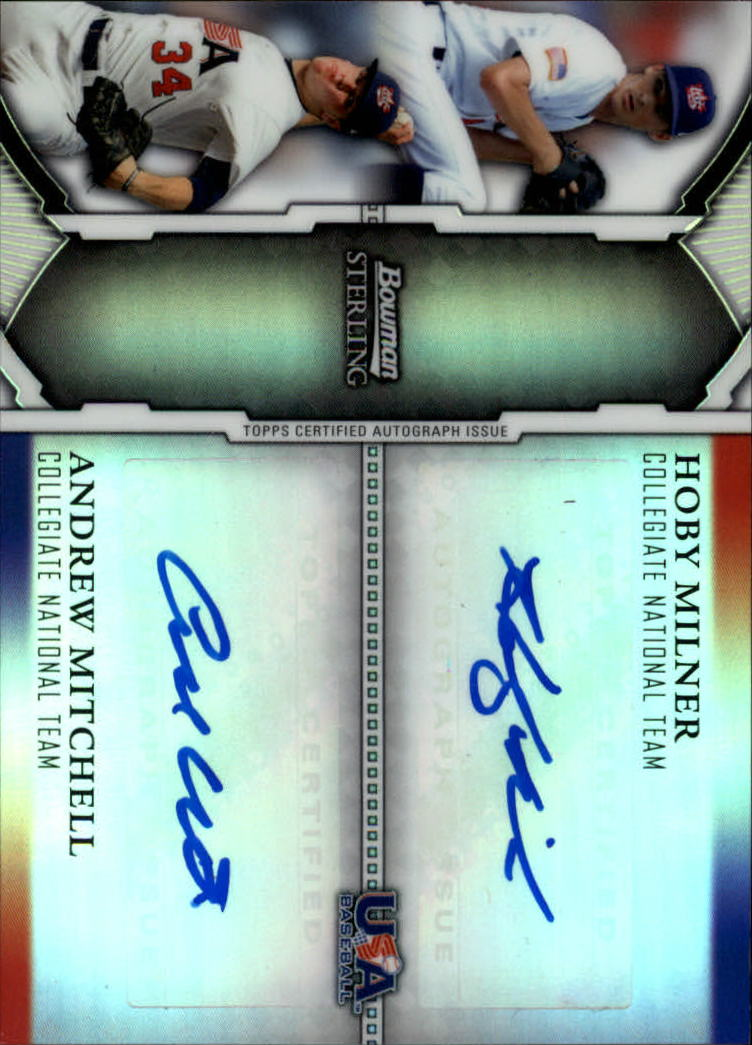 2011 Bowman Sterling Dual Autographs Refractors #MM Hoby Milner/Andrew Mitchell