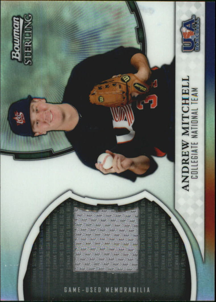 2011 Bowman Sterling USA Baseball Relics #AM Andrew Mitchell