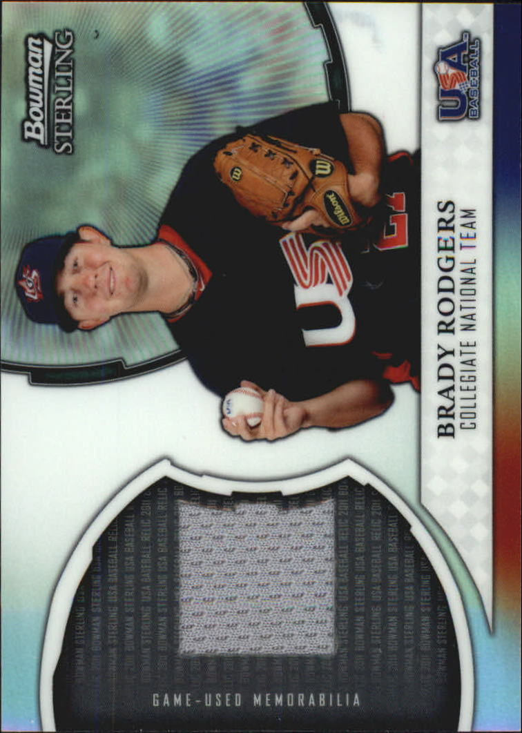 2011 Bowman Sterling USA Baseball Relics #BR Brady Rodgers