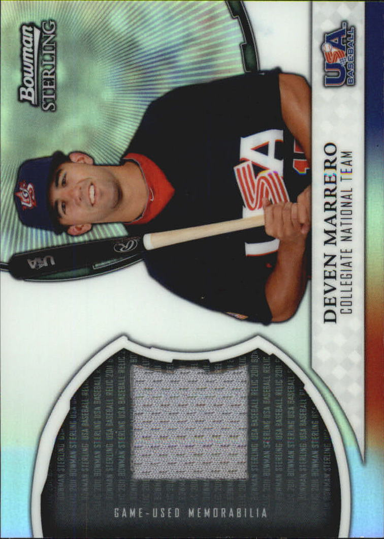 2011 Bowman Sterling USA Baseball Relics #DM Deven Marrero