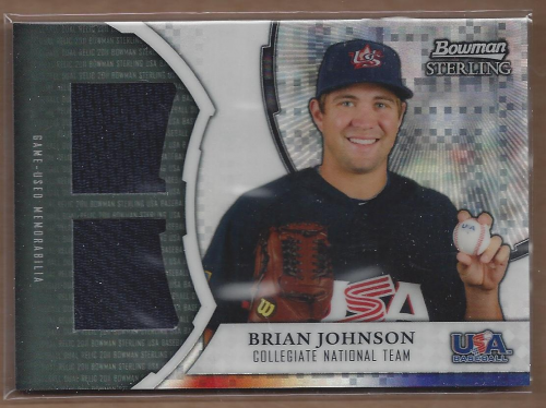 2011 Bowman Sterling USA Baseball Dual Relic X-Fractors #BJ Brian Johnson