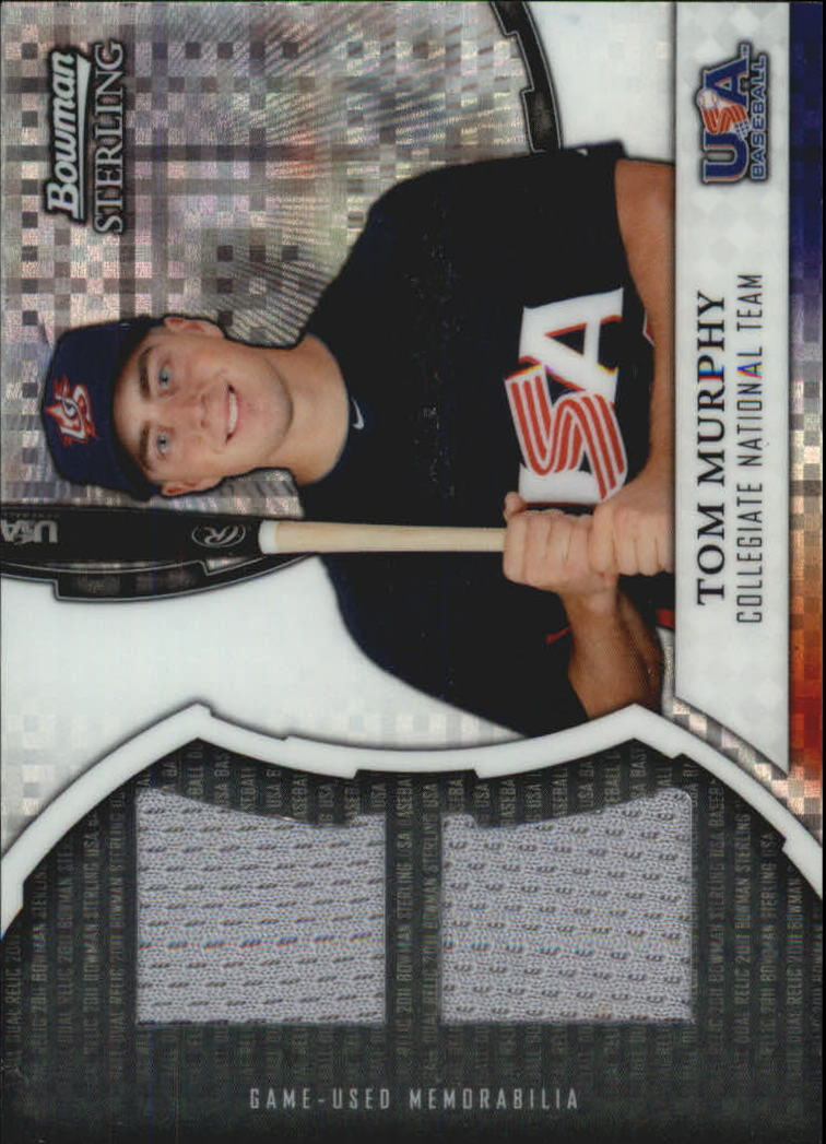 2011 Bowman Sterling USA Baseball Dual Relic X-Fractors #TM Tom Murphy
