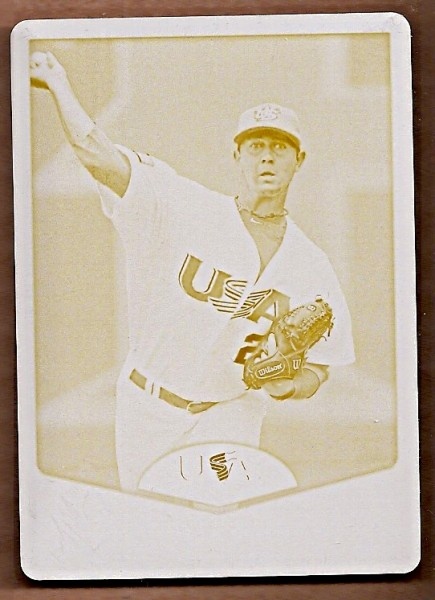 2011 USA Baseball Printing Plates Yellow #USA19 Brady Rodgers