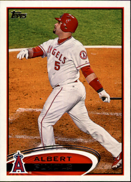 2012 Topps #331B Albert Pujols/Swinging
