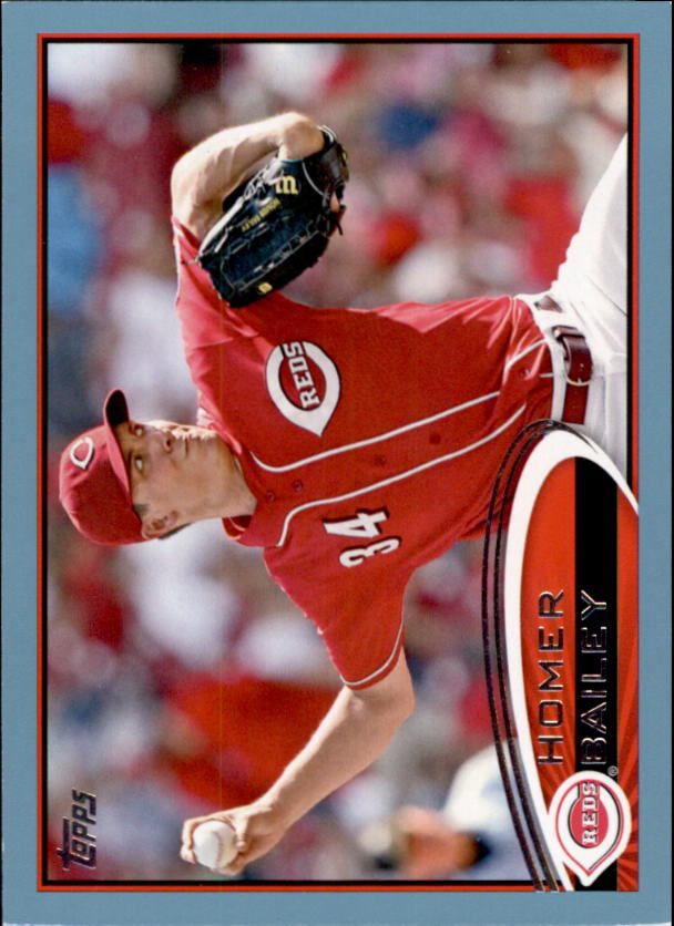 2012 Topps Wal-Mart Blue Border #659 Homer Bailey