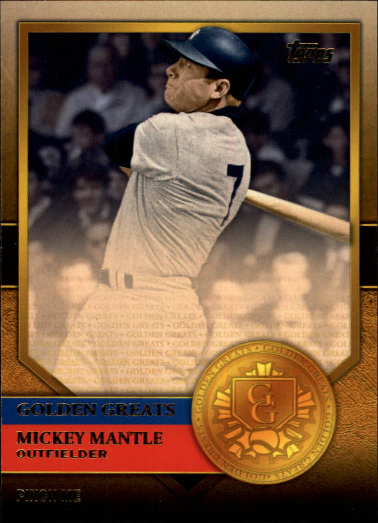 2012 Topps Golden Greats #GG32 Mickey Mantle