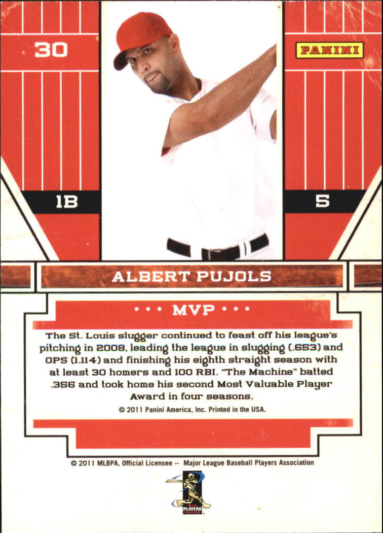 2011 Playoff Contenders Award Winners #30 Albert Pujols