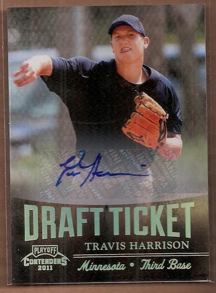 2011 Playoff Contenders Draft Ticket Autographs #DT1 Travis Harrison