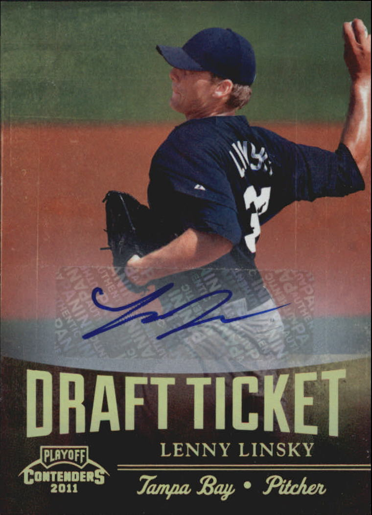 2011 Playoff Contenders Draft Ticket Autographs #DT3 Lenny Linsky