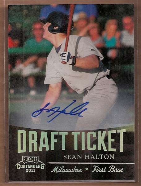 2011 Playoff Contenders Draft Ticket Autographs #DT16 Sean Halton