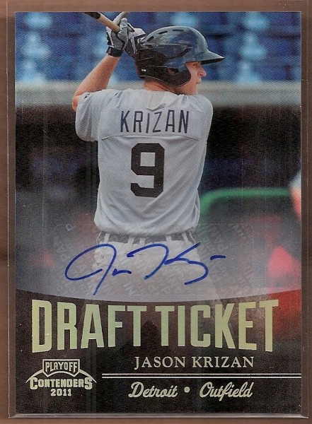 2011 Playoff Contenders Draft Ticket Autographs #DT62 Jason Krizan/261 *
