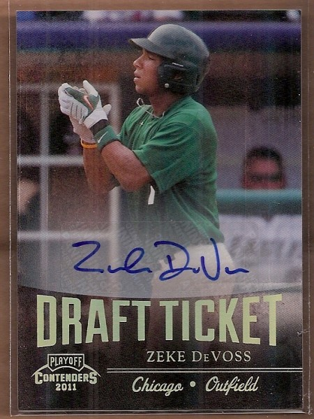 2011 Playoff Contenders Draft Ticket Autographs #DT89 Zeke DeVoss/260 *