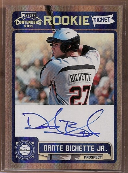 2011 Playoff Contenders Rookie Ticket Autographs #RT39 Dante Bichette Jr.