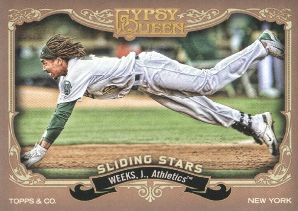 2012 Topps Gypsy Queen Sliding Stars #JW Jemile Weeks