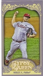 2012 Topps Gypsy Queen Mini Straight Cut Back #277 Vance Worley
