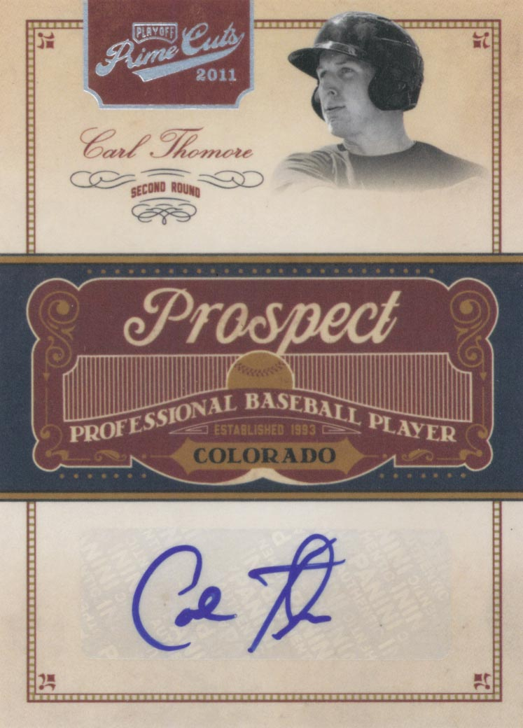 2011 Prime Cuts Prospect Signatures #CT Carl Thomore