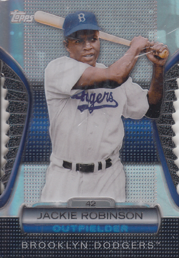2012 Topps Golden Moments Die Cuts #GMDC18 Jackie Robinson