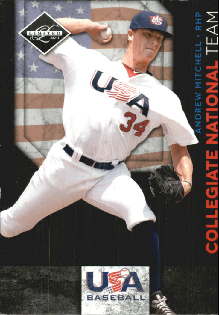 2011 Limited USA Baseball National Team #15 Andrew Mitchell
