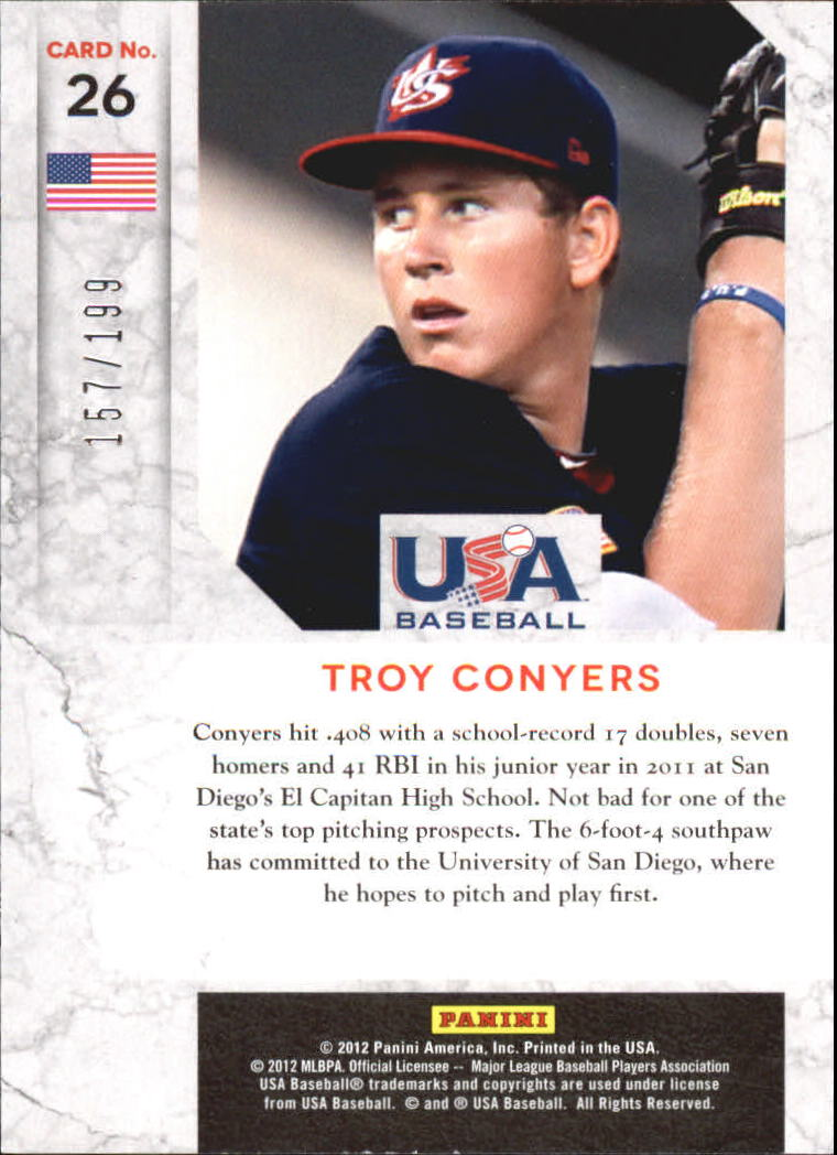 2011 Limited USA Baseball National Team #26 Troy Conyers