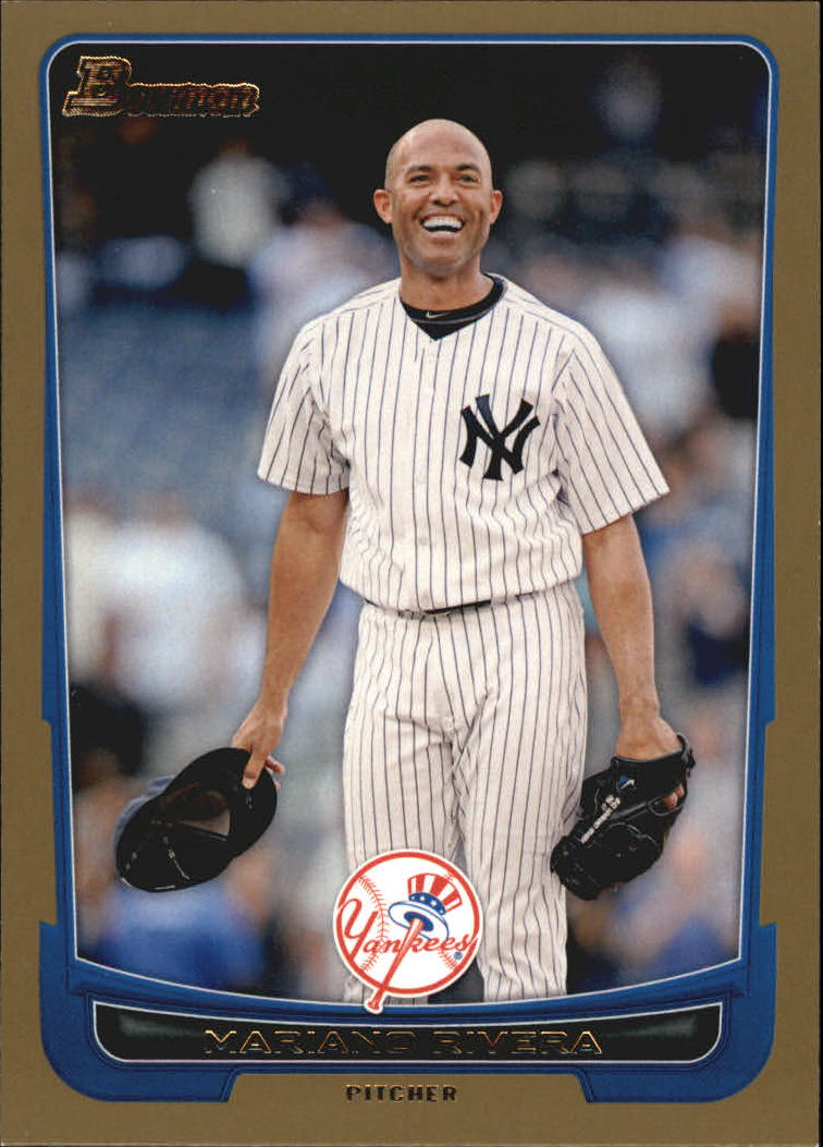 2012 Bowman Gold #66 Mariano Rivera