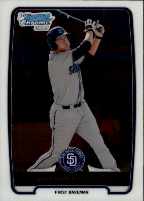 2012 Bowman Chrome Prospects #BCP4 Nathan Freiman