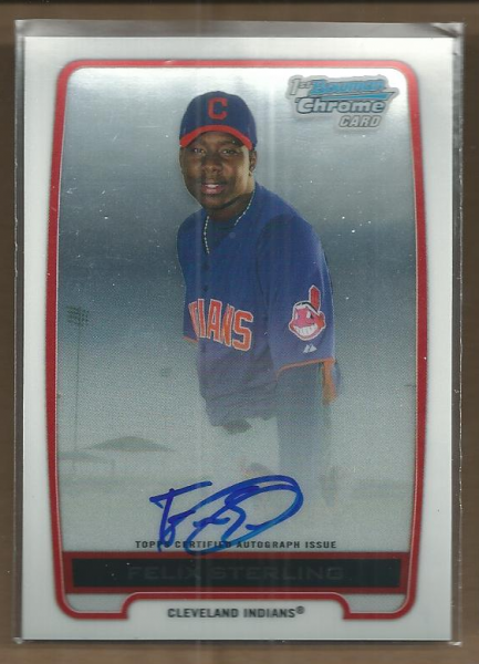 2012 Bowman Chrome Prospect Autographs #FS Felix Sterling