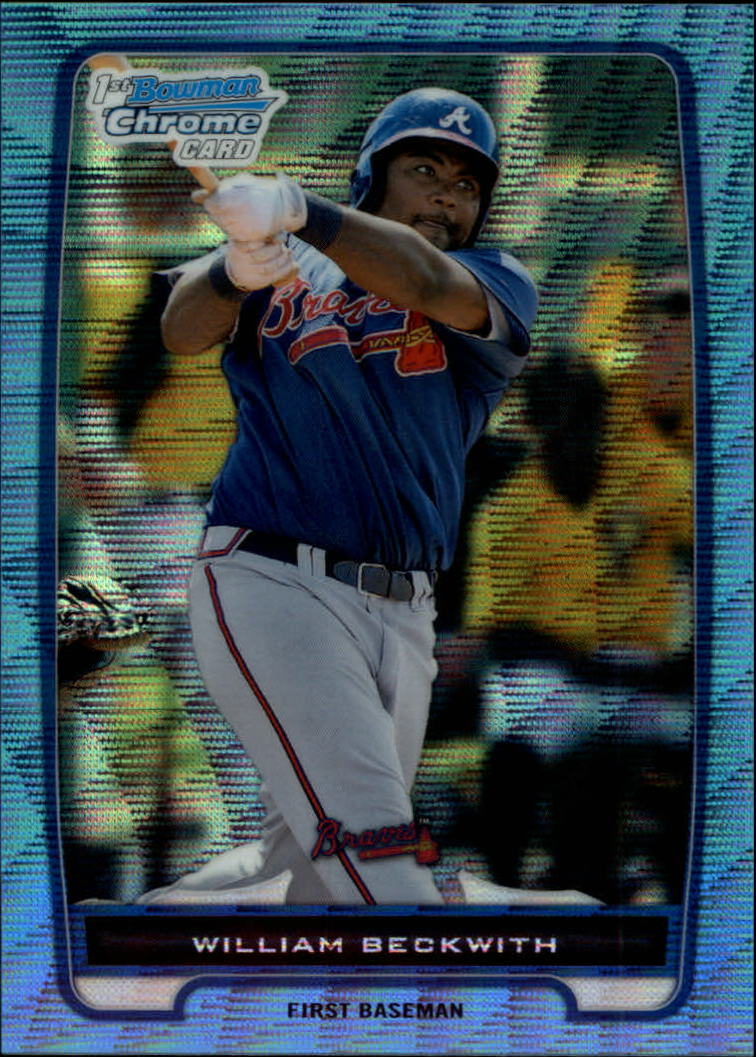 2012 Bowman Chrome Prospects Blue Wave Refractors #BCP154 William Beckwith