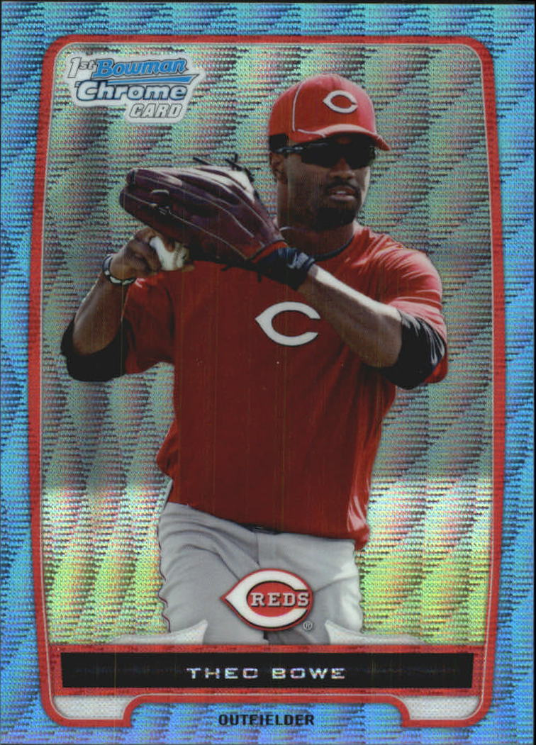 2012 Bowman Chrome Prospects Blue Wave Refractors #BCP208 Theo Bowe