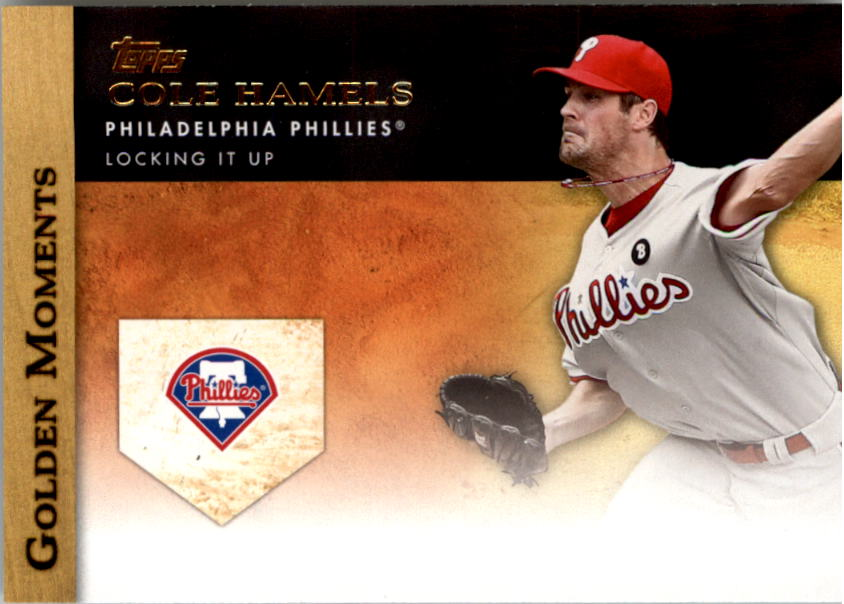 2012 Topps Golden Moments Series 2 #GM18 Cole Hamels